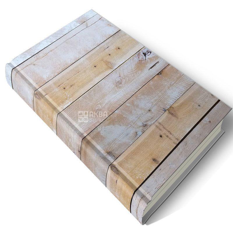 Блокнот Эко А5 Деревянное полотно, клетка, 192 л, Ранок