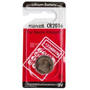 Maxel, CR2016 Batteries, 1 pc