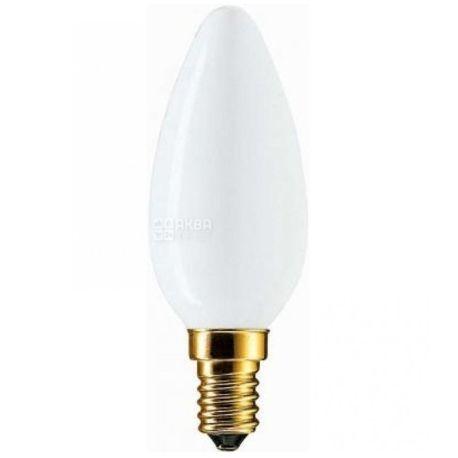 Philips Soft Лампа накаливания E14 60W 230V B35 WH 1CT/10X10F, коробка