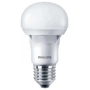 Philips, Лампа светодиодная, LEDBulb E27, 3000K A60 Essential, 40W