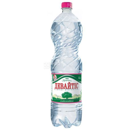 Девайтіс, 1,5 л, Вода мінеральна слабогазована, ПЕТ