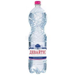 Девайтіс, 1,5 л, Вода сильногазована, Мінеральна, ПЕТ