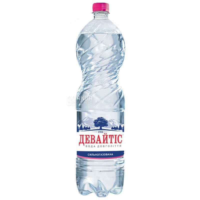 Девайтіс, 1,5 л, Вода мінеральна сильногазована, ПЕТ