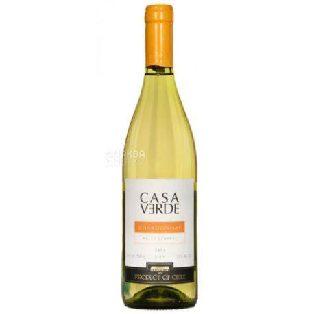 Casa Verde Chardonnay, Вино белое сухое, 0,75 л