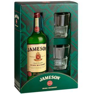 Jameson Виски, 0,7л, подарочная упаковка с 2 стаканами
