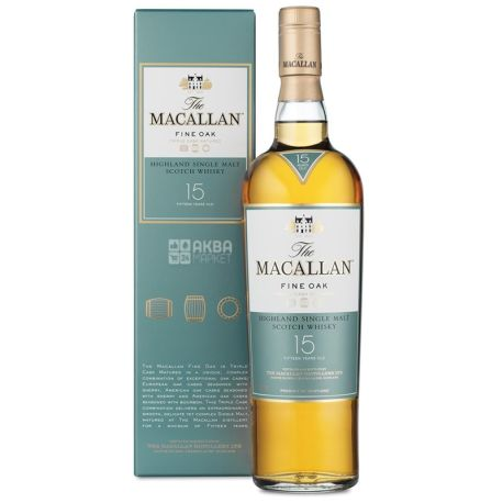 Macallan Fine Oak Виски 15лет, 0,7 л, Single Malt