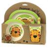 Fissman Тигренок, Детский набор посуды, 5 предметов, бамбуковое волокно