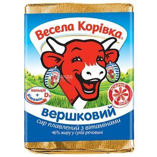 Сыр плавленый, Веселая Коровка, сливочный, 46 %, 90 г