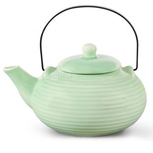 Fissman Teapot 700 ml with strainer, ceramics