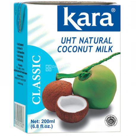Kara, Coconut milk, 200 мл, Кара, Молоко кокосове, пастеризоване