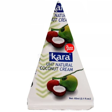 Kara, Coconut cream, 65 мл, Кара, Крем-вершки кокосові, 24%