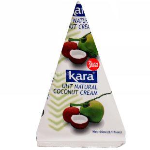 Kara, Coconut cream, 65 мл, Кара, Крем-сливки кокосовые, 24%