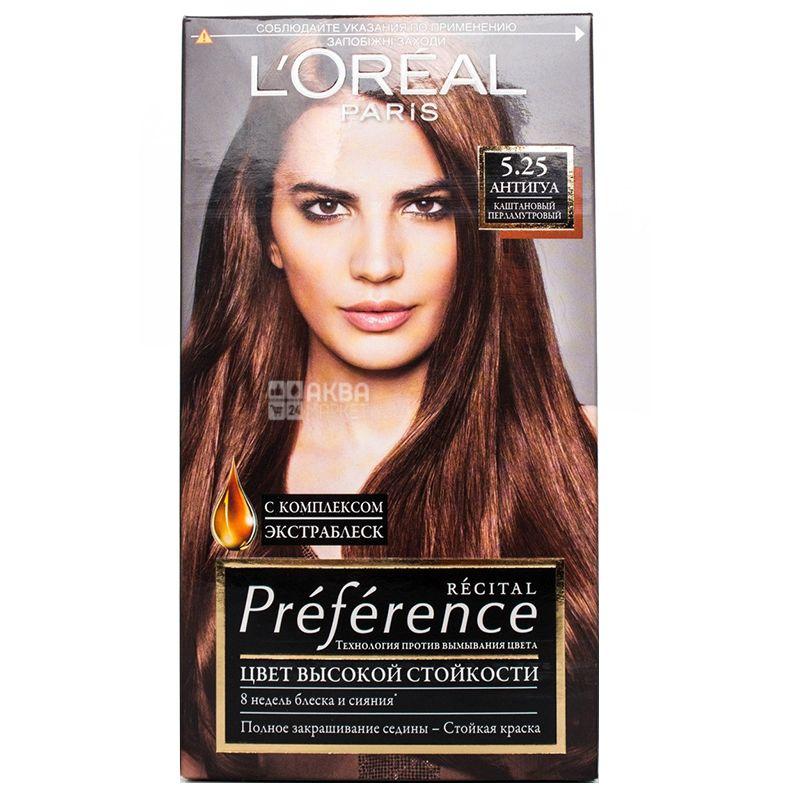 L'Oreal Paris Preference, Краска для волос, Тон 5.25 Каштановый перламутровый