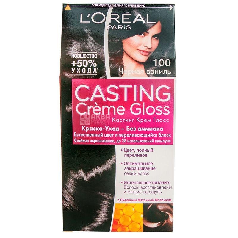 L'Oreal Paris Casting Creme Gloss, Краска для волос, Тон 100 Черная ваниль
