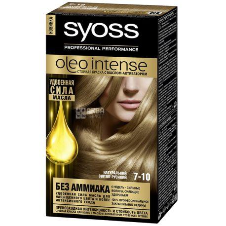 Syoss Oleo Intense, Крем-краска для волос, Тон 7-10 Натуральный светло-русый
