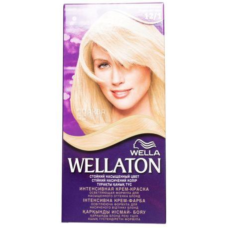 Wella Wellaton, Крем-краска для волос, Тон 12/1 Яркий пепельный блондин