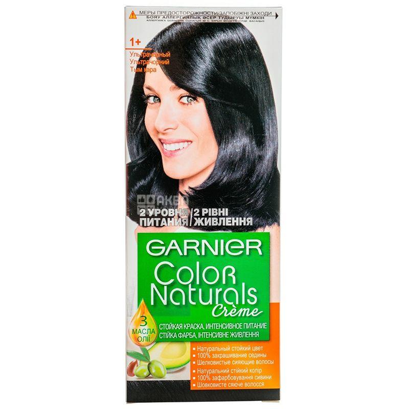 Garnier Color Naturals, Краска для волос, Тон 1+ Ультрачерный