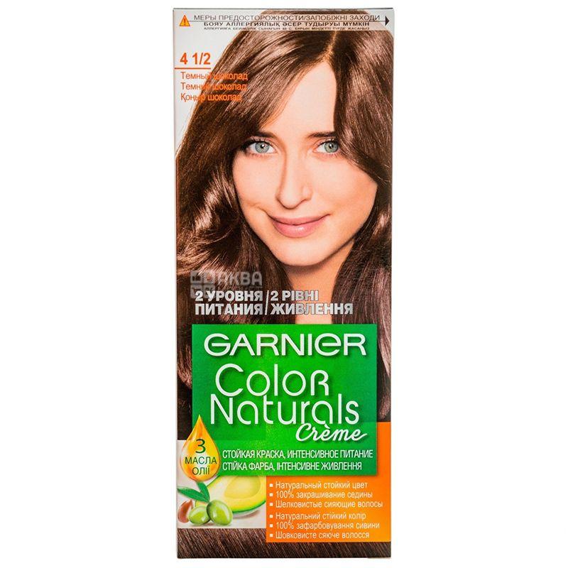 Garnier Color Naturals, Краска для волос, Тон 4 1/2 Темный шоколад