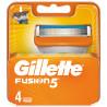 Gillette Fusion 5, Змінні картриджі для гоління, Упаковка 4 шт.