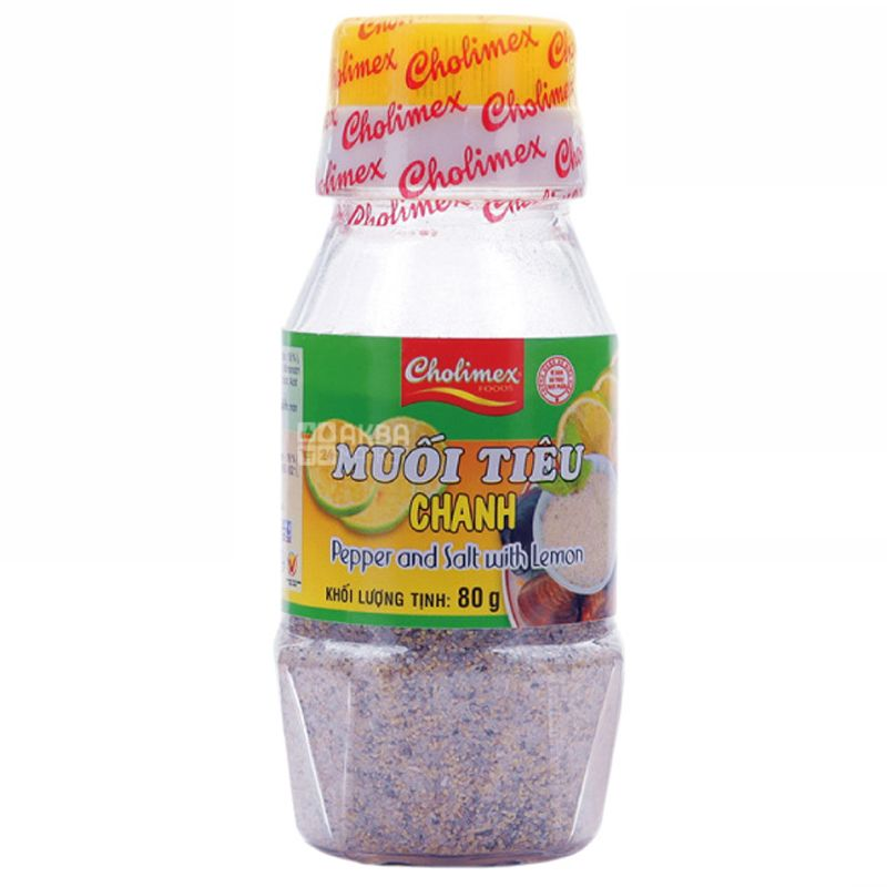 Cholimex, Spice Mix Pepper and salt with lemon, 80 g