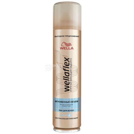 Wella Wellaflex, Лак для волос, Мгновенный объём, 250 мл