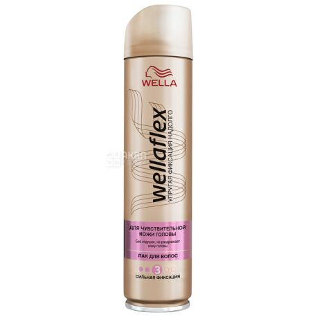 Wella Wellaflex, Лак для волос, Для чувствительной кожи головы, 250 мл