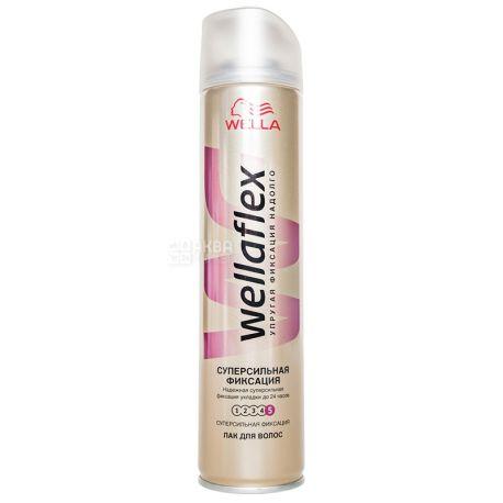 Wella Wellaflex, Лак для волос, Суперсильная фиксация, 250 мл