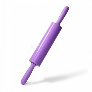 Скалка Fissman, для теста, лиловый, силикон, 39.5x5.5 см