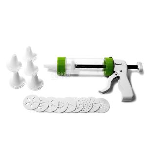 Syringe Fissman, confectionary, 13 disks for cookies, 6 nozzles for cream