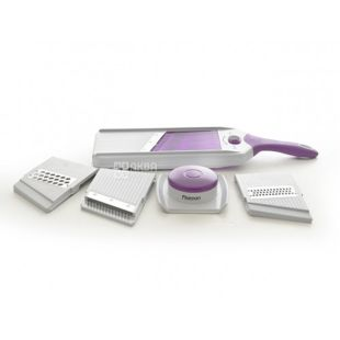 Fissman grater, shredder, 4 interchangeable blades, stainless. steel