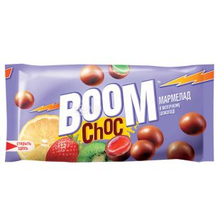 Boom Choc, Milk Chocolate Dried Marmalade Beans, 45 g
