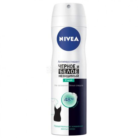 Nivea Fresh, Защита для черного и белого, Дезодорант-антиперспирант, 150 мл