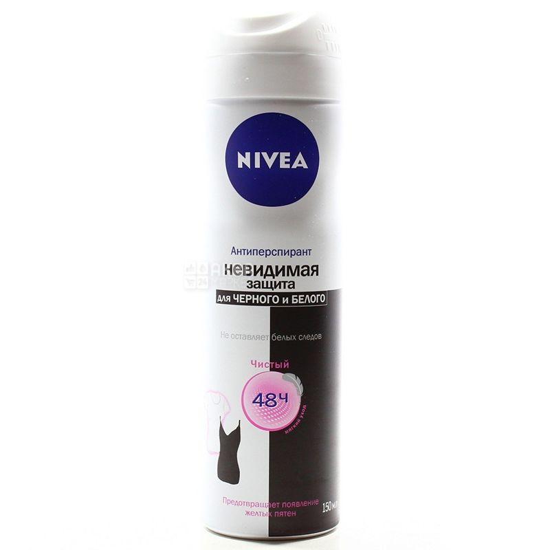 Nivea Clear, Защита для черного и белого, Дезодорант-антиперспирант, 150 мл