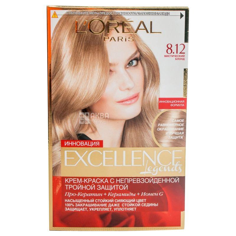 L'Oreal Paris Excellence crème, Краска для волос Тон 8.12 Мистический блонд