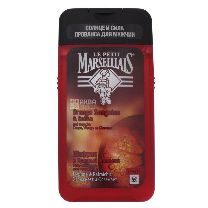 Le Petit Marseillais Шафран и Красный апельсин Гель-шампунь для мужчин, 250 мл