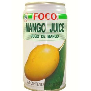 Foco, Mango, 0,35 л, Фоко, Сок из манго, ж/б