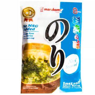 Marukome, мисо-суп быстрого приготовления, Нори, 8 порций