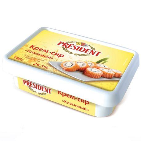 President, Крем-сыр, Классический, 24,5%, 180 г