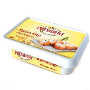 President, Cream Cheese, Classic, 24.5%, 180 g