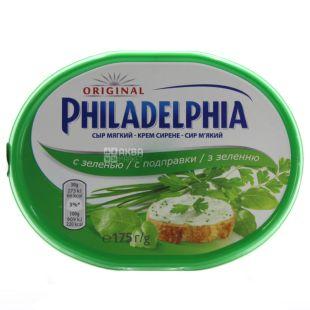 Philadelphia, Крем-сыр, С зеленью, 175 г