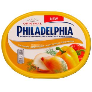 Philadelphia, Cream Cheese, Onions and Peppers, 175 g