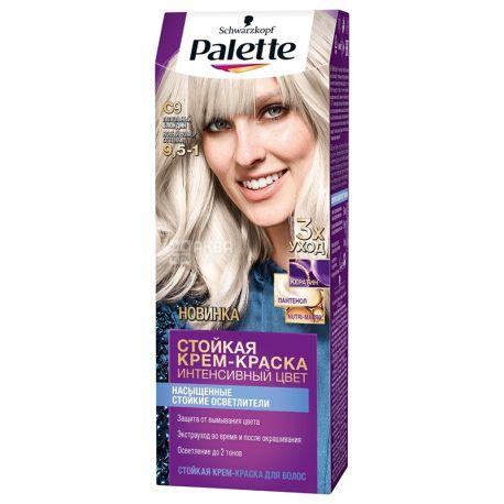 Palette, Интенсивный цвет, Стойкая крем-краска, Тон С9, Пепельный блондин