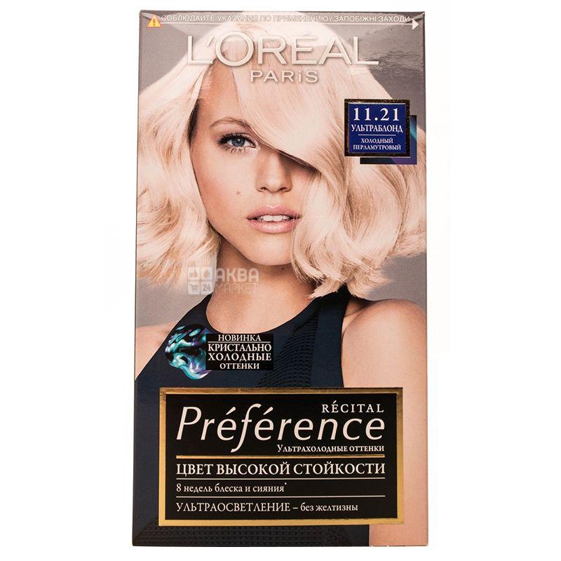 L'Oreal Preference Холодный перламутровый, Гель-краска для волос
