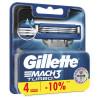 Gillette, 4 шт, Змінні картриджі, Для бритви, Mach3 Turbo
