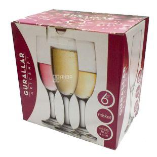 Набір келихів Міскет для шампанського, 190 мл, 6 шт.