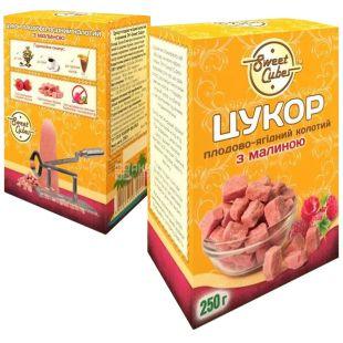 Sweet Cubes, Sugar Split Lump Raspberry, 250 g