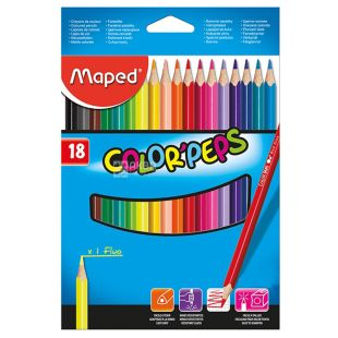 Maped, Карандаши цветные Мапед, 18 шт.