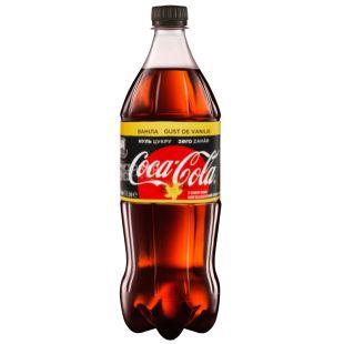Coca-Cola Zero, Vanilla, 1 л, Кока-Кола Зеро, Ваниль, Вода сладкая, низкокалорийная, ПЭТ