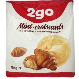 Mini croissants with vanilla filling, 180 g, TM 2go