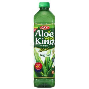 OKF Aloe Vera King Original, Напій соковий з алое, негазований, 1,5 л, ПЕТ